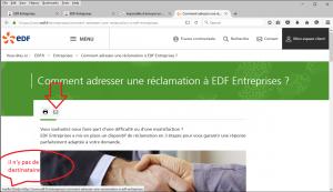 Comment adresser une réclamation à EDF Entreprises